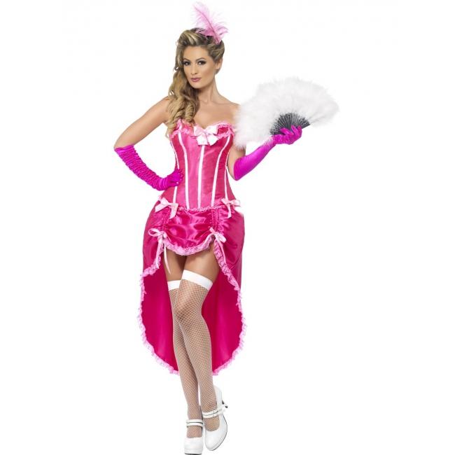 Roze korset met verstelbare rok