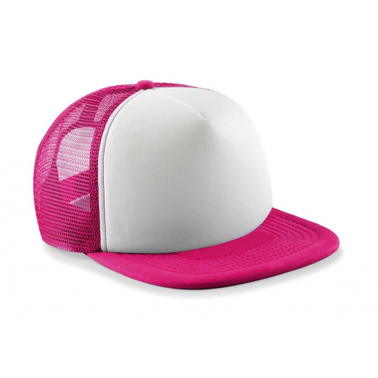 Roze met witte vintage kinder baseball cap