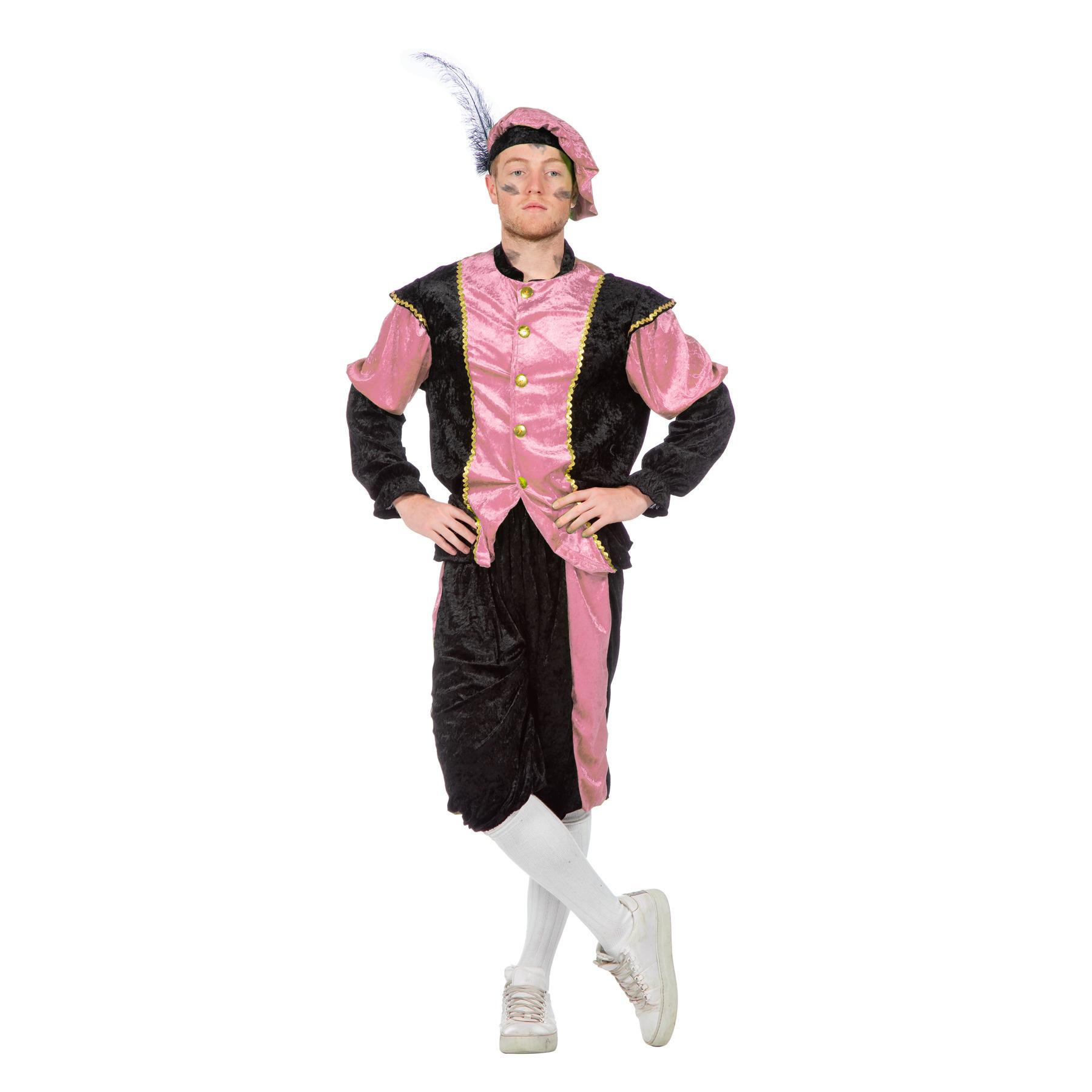 Merkloos Roze Pieten kostuum budget