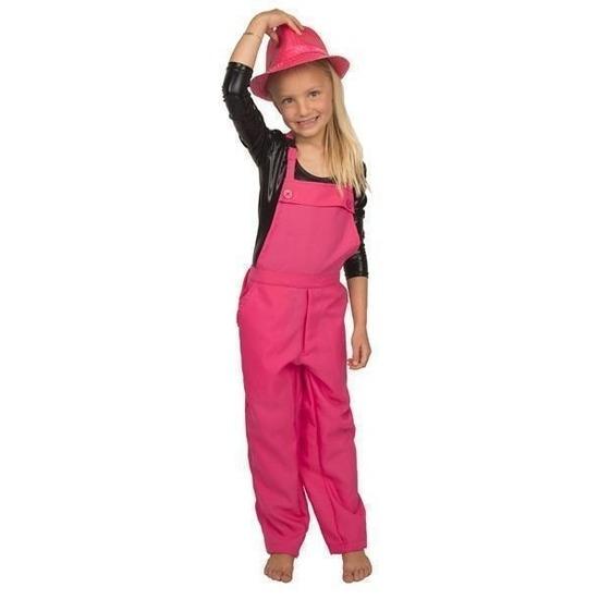Roze tuinbroek/overall voor kinderen