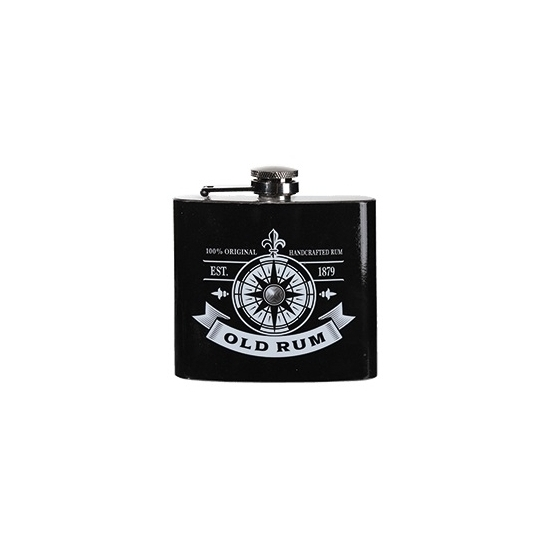 RVS zakflesje rum 150 ml