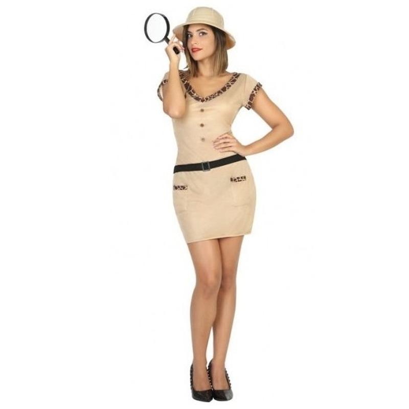 Safari/jungle explorer verkleed jurkje voor dames