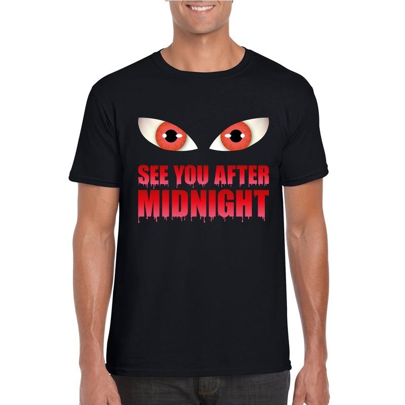 Bellatio Decorations See you after midnight Halloween vampier t-shirt zwart heren
