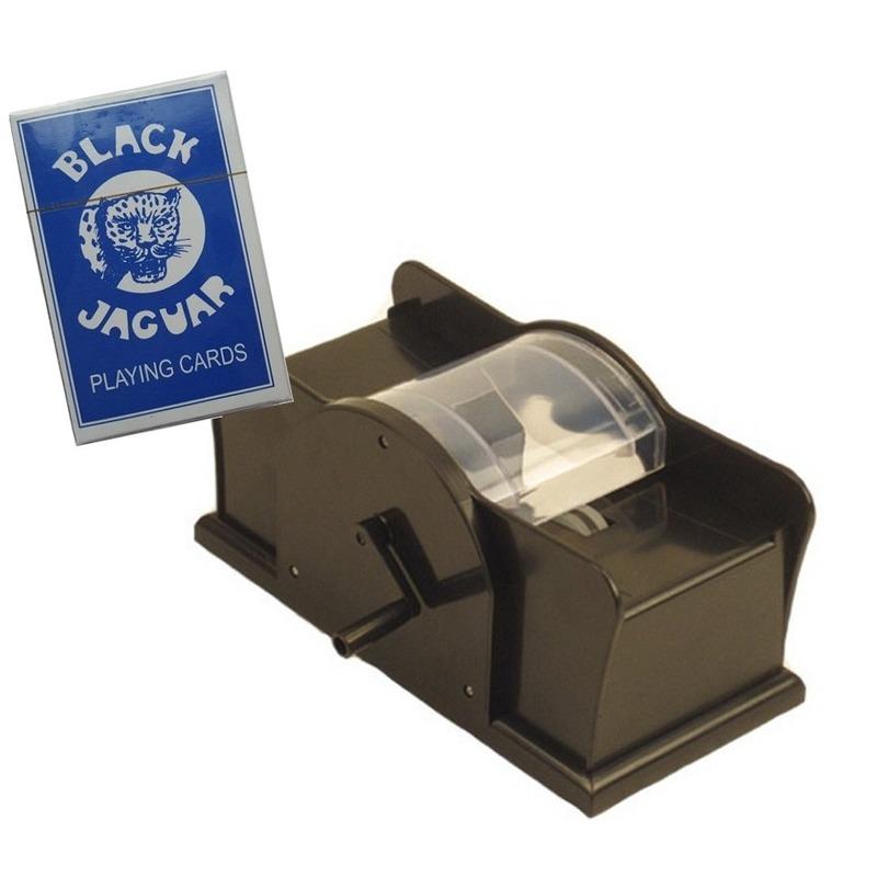 Set kaarten schudmachine met hendel - pak speelkaarten