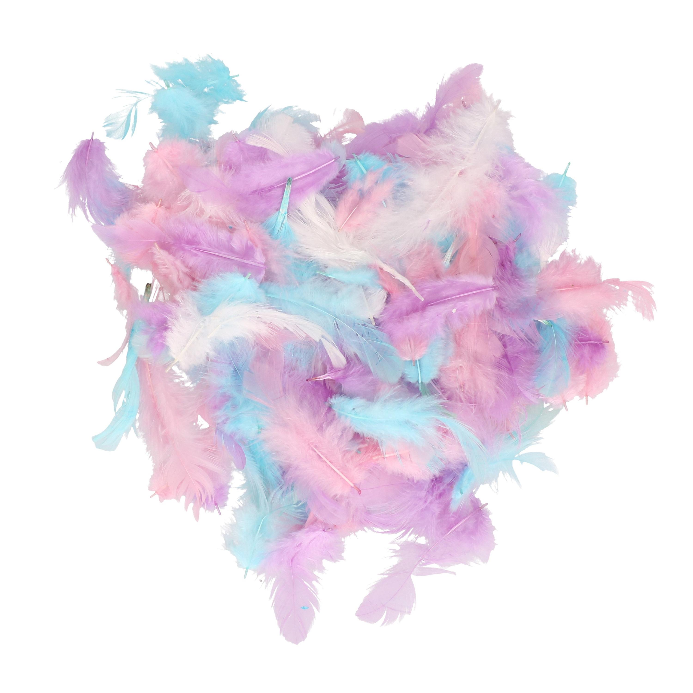 Set van 10 gram decoratie sierveren pastel tinten
