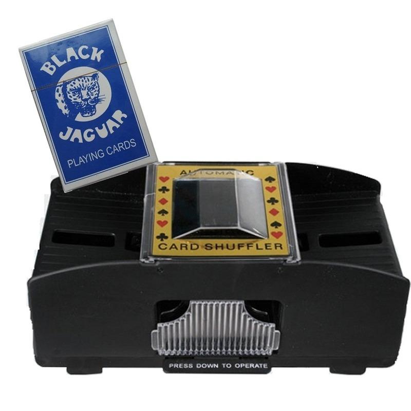 Set van Kaartenschudmachine op batterijen - speelkaarten