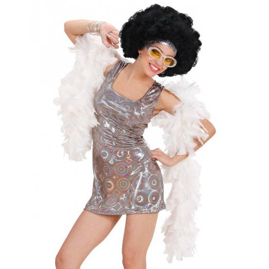 Seventies disco diva jurkje holografisch zilver