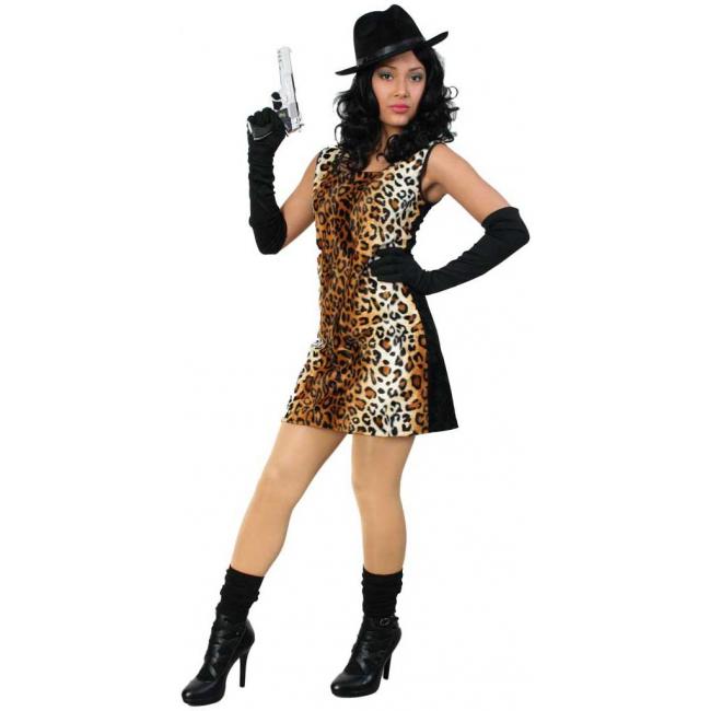 Sexy carnavalskleding jurkje tijgerprint