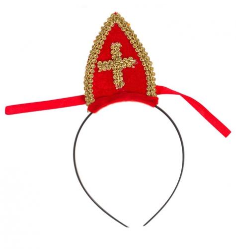 Sinterklaas diadeem met mijter voor kinderen