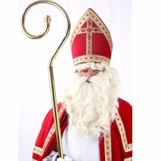 Sinterklaas pruik met baard en snor voor volwassenen