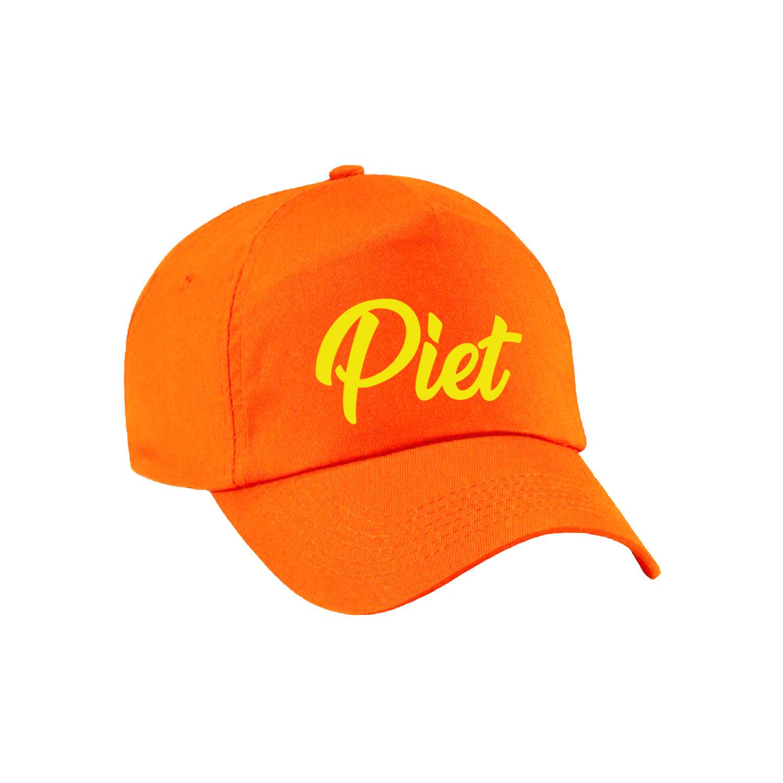 Sinterklaas verkleed pet Piet oranje voor volwassenen