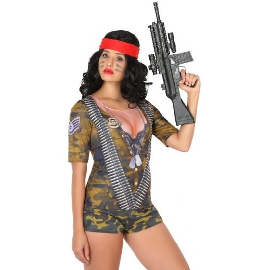 Soldaten verkleed shirt voor dames