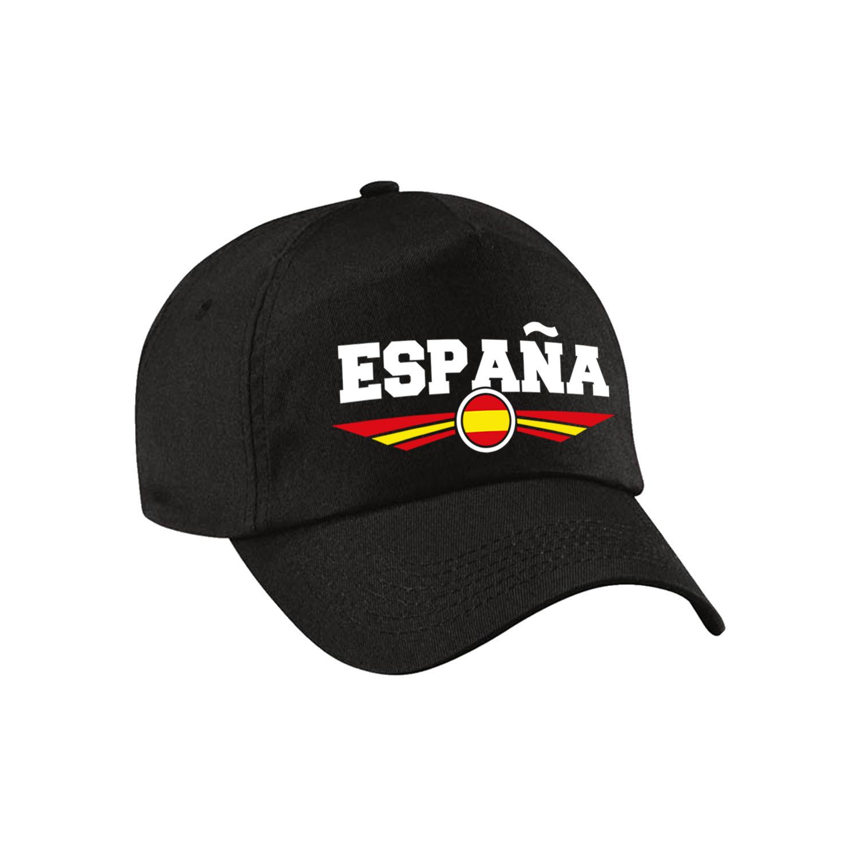 Spanje - Espana landen pet - baseball cap zwart kinderen