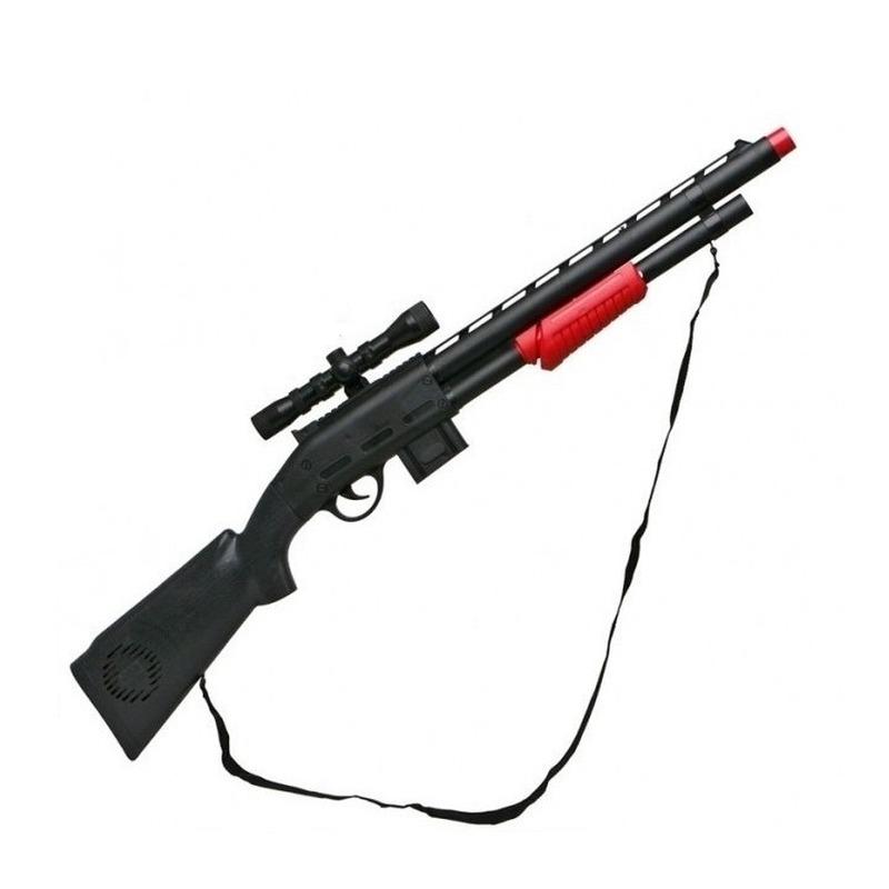 Speelgoed geweer zwart 15 x 68 cm