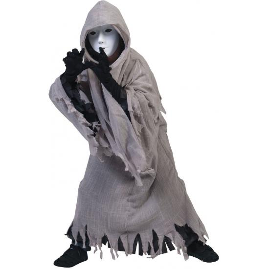 Spook kostuum met capuchon voor kinderen