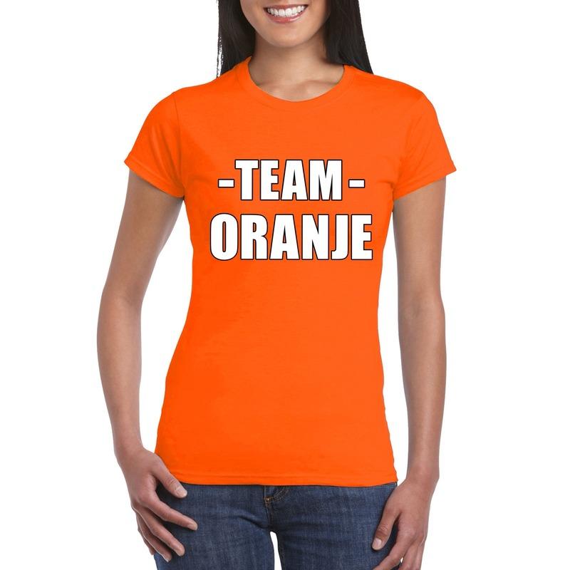 Sportdag team oranje shirt dames