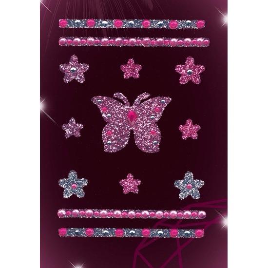 Stickers vlinders met strass steentjes