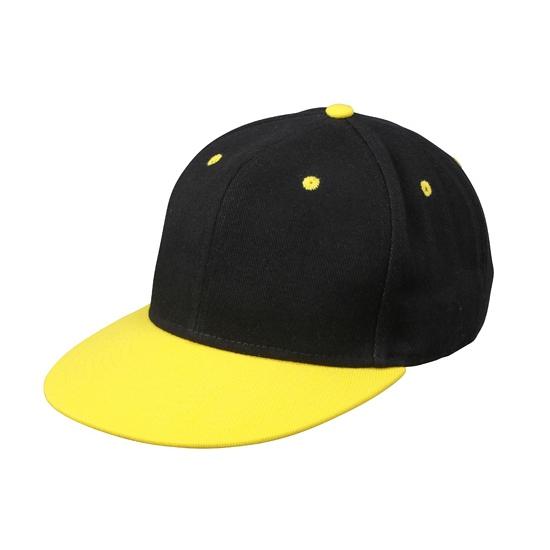 Stoere urban pet zwart/geel