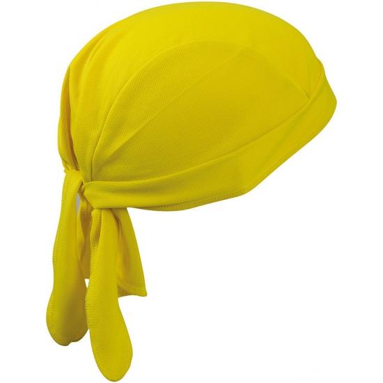 Topcool polyester bandana geel