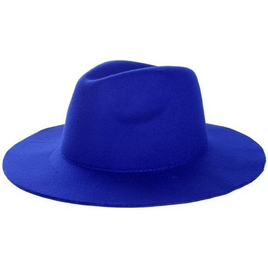 Toppers - Blauwe cowboyhoed voor volwassenen