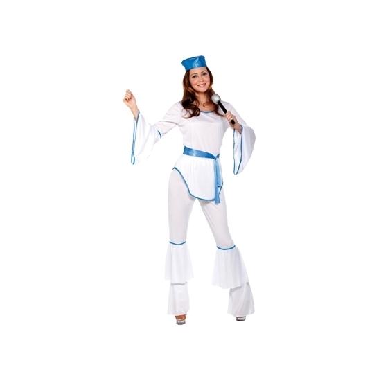 Toppers - Disco kostuum wit voor dames