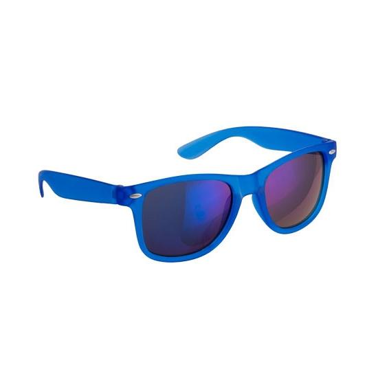 Toppers - Hippe zonnebril blauw met spiegelglazen