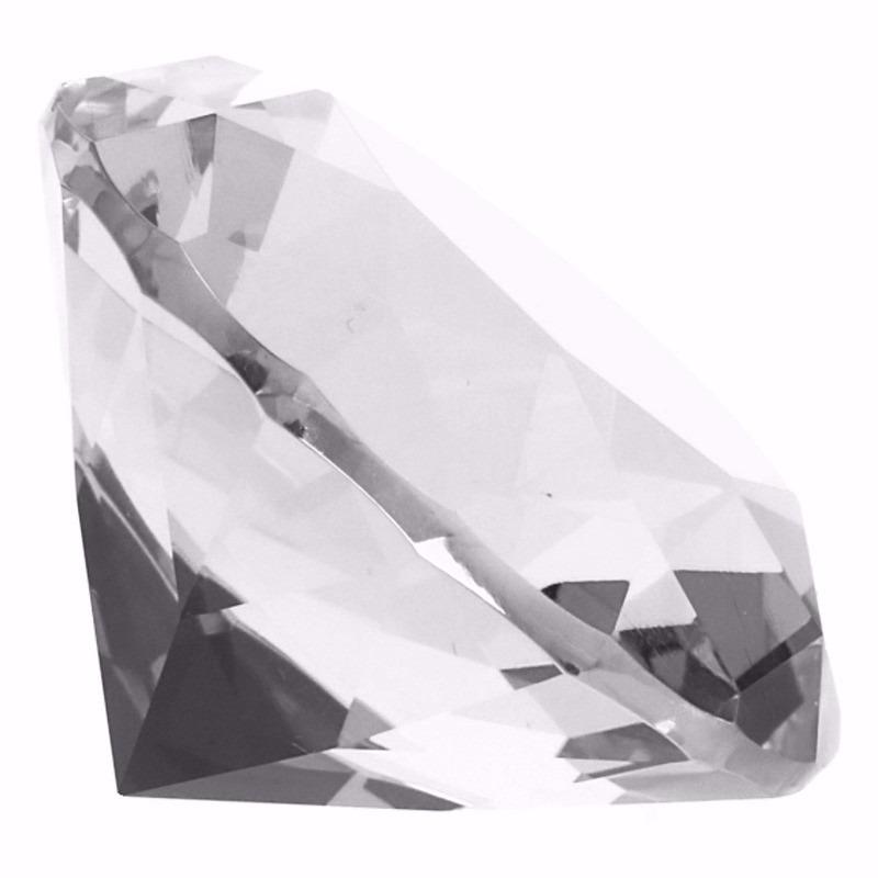 Transparante nep diamant 6 cm van glas