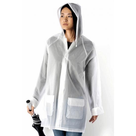Transparante regenjas met hoesje
