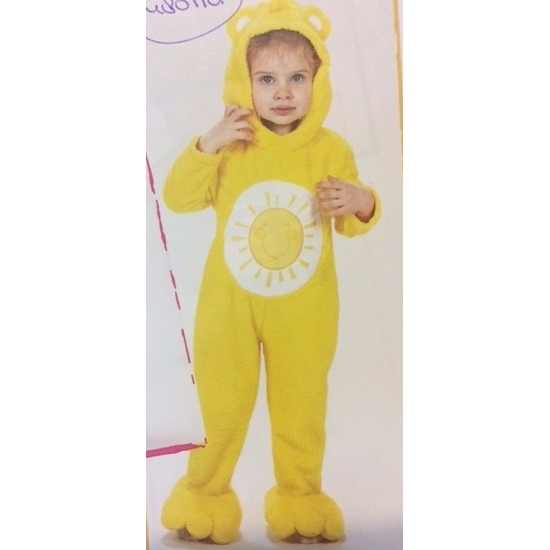 Troetelberen kostuum geel voor meisjes