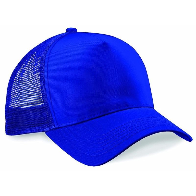 Truckers baseball cap kobalt baluw voor volwassenen