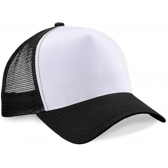 Truckers baseball cap zwart/wit voor volwassenen