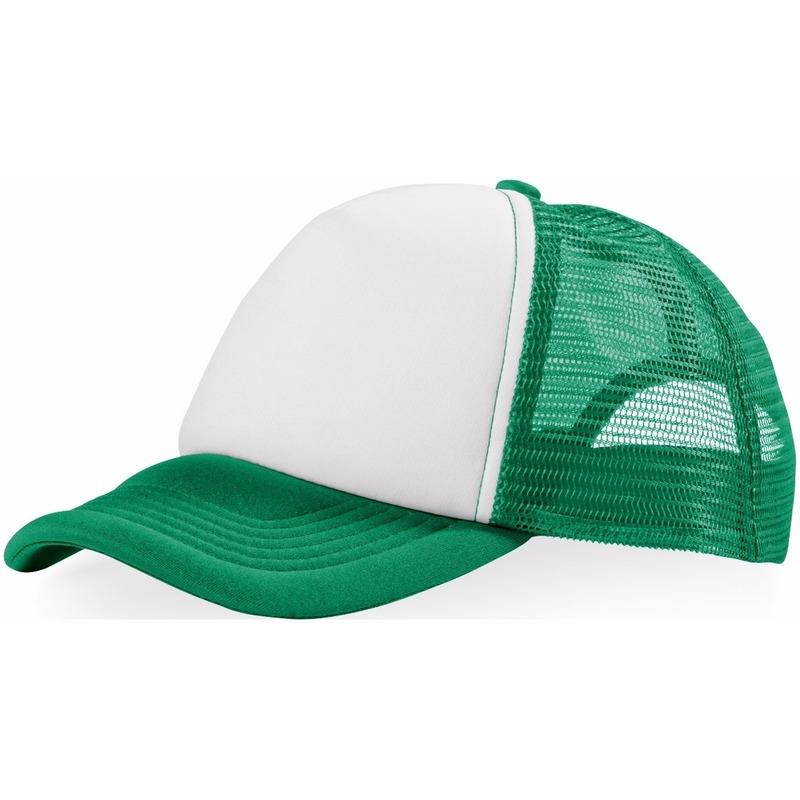 Truckers cap groen/wit
