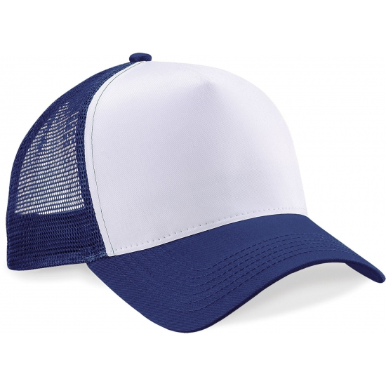 Truckers cap navy/wit voor volwassenen