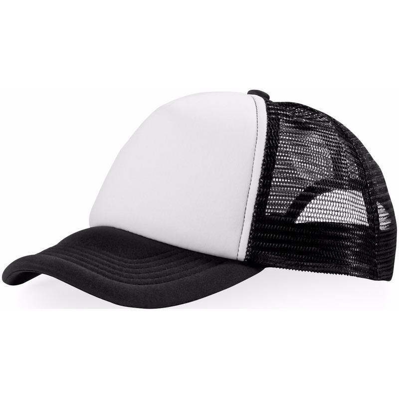 Truckers cap zwart/wit