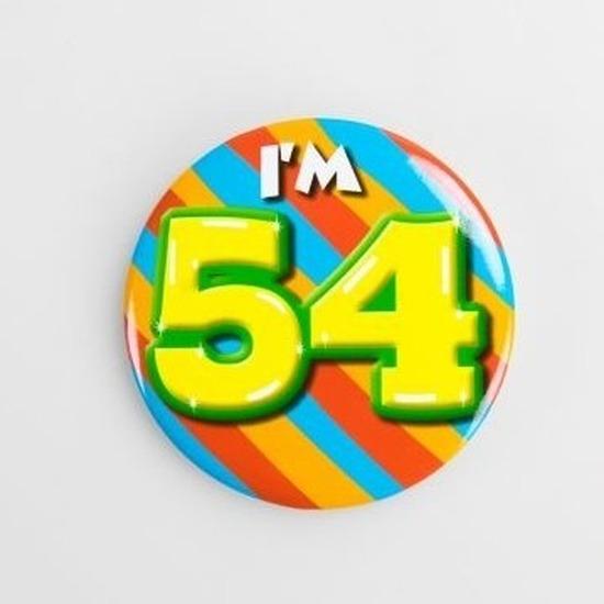 Verjaardags button 54 jaar