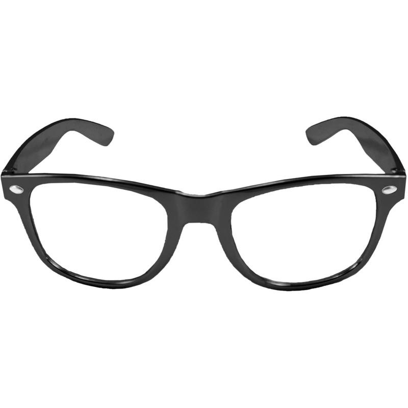 Verkleed bril metallic zwart