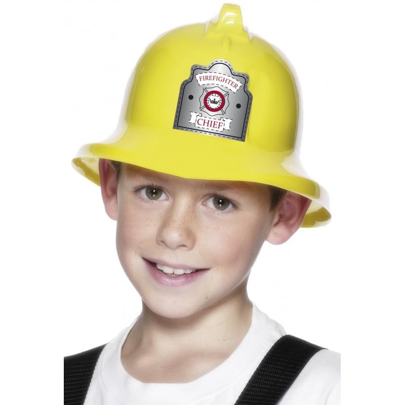 Merkloos Verkleed Gele brandweerhelm voor kinderen