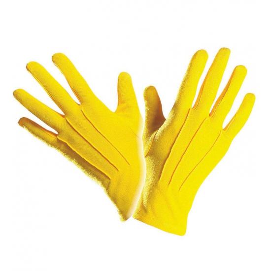 Verkleed Gele handschoenen
