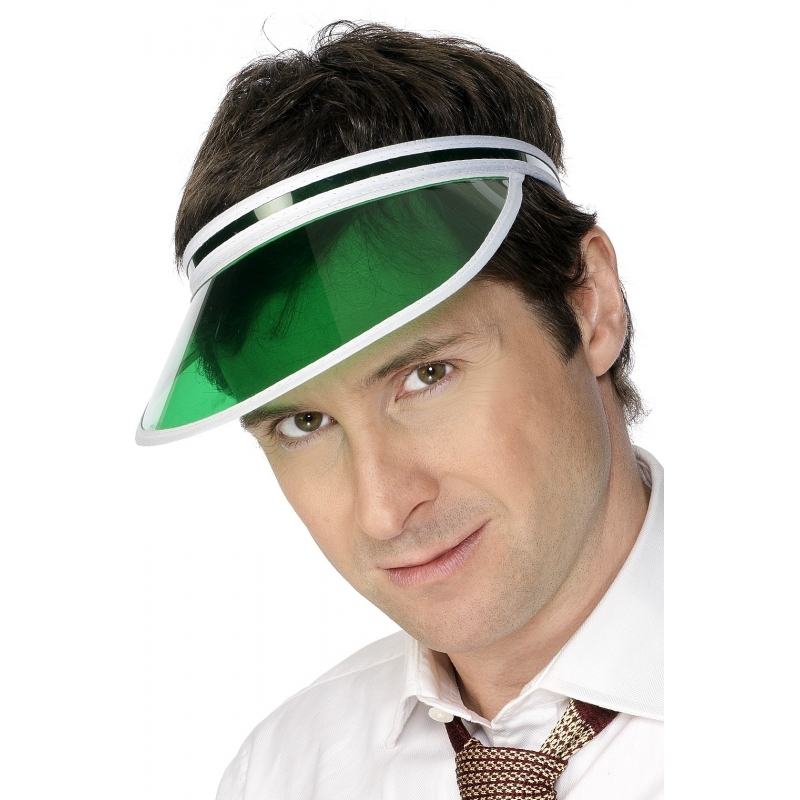 Merkloos Verkleed Groene poker zonneklep