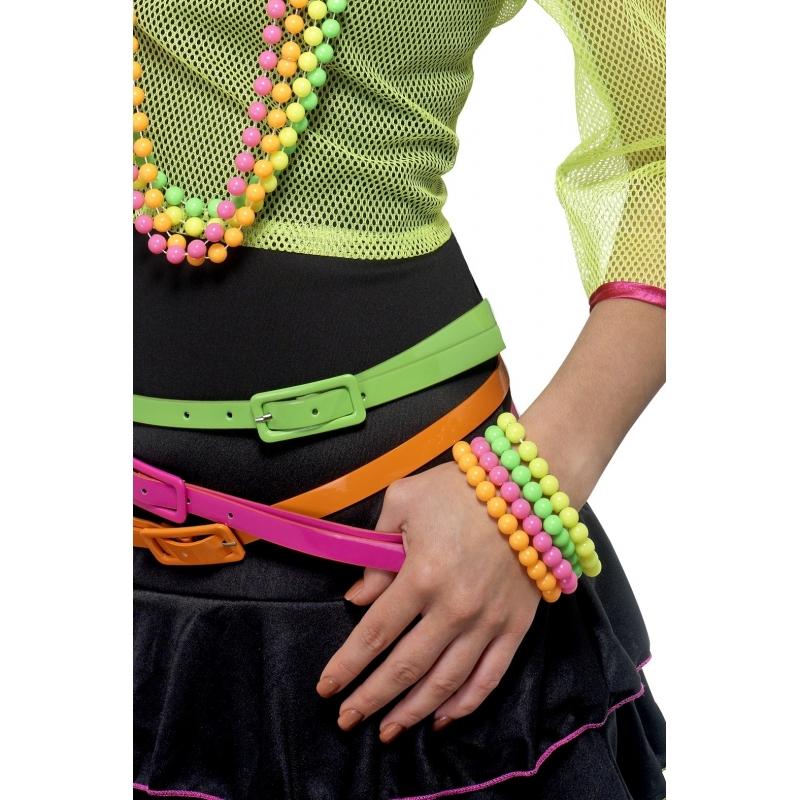 Verkleed Hippie armbandje gekleurde kralen 3x