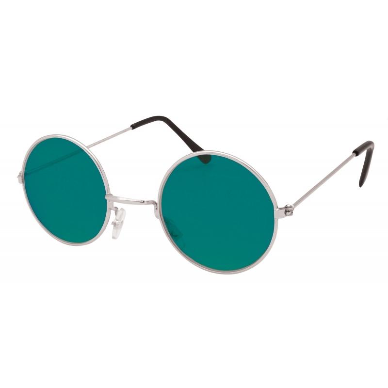 Merkloos Verkleed Hippie bril groen