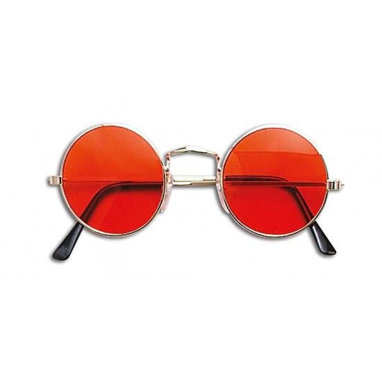 Merkloos Verkleed Hippie bril oranje