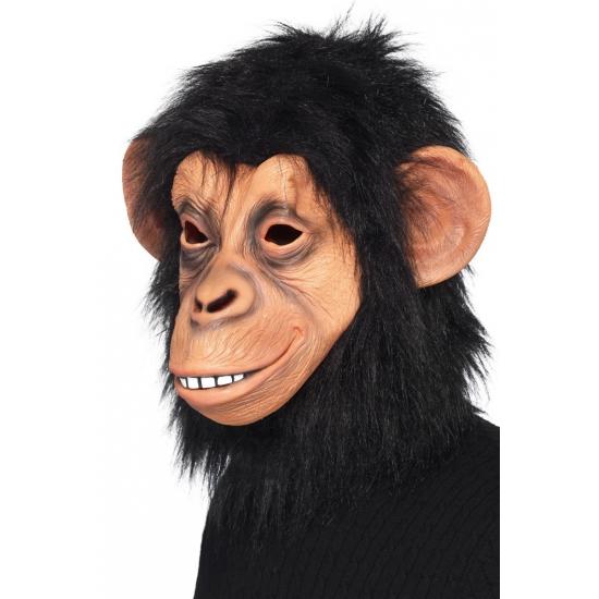 Verkleed masker latex zwarte aap