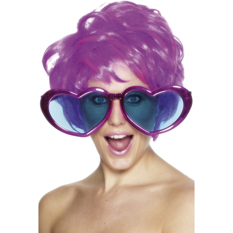 Verkleed Mega bril hartjes 30 cm