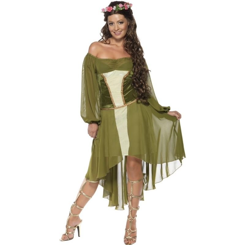 Verkleed middeleeuws dames kostuum