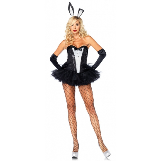 Verkleed outfit sexy Bunny jurkje