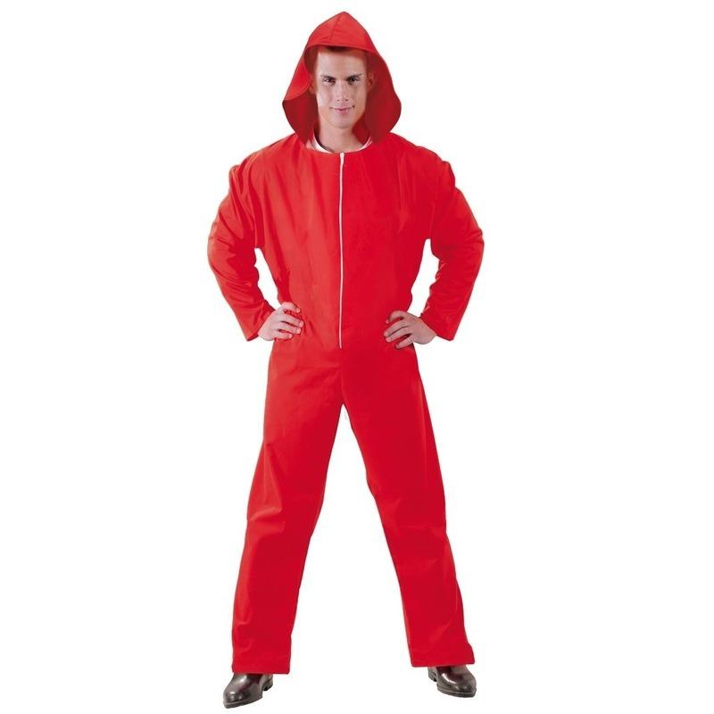 Verkleed overall Papel rood voor heren