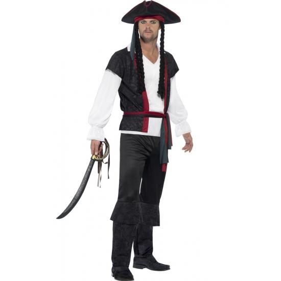 Verkleed piraat Jack Sparrow look-a-like outfit heren