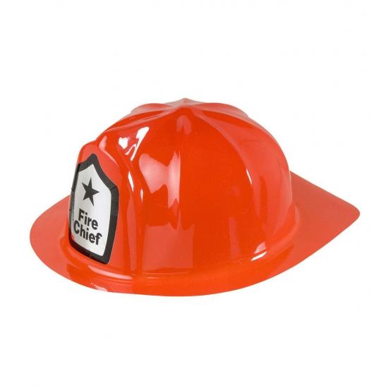Merkloos Verkleed Rode brandweer helm