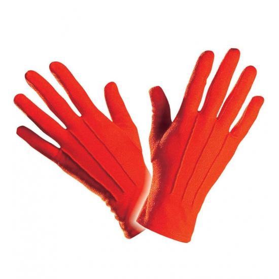 Verkleed Rode handschoenen kort